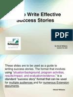 Writing Good Success Stories