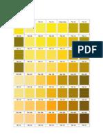 Tabla de Colores Pantone