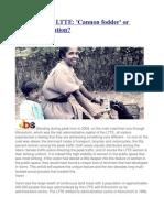 Women Under LTTE 'Cannon Fodder' or Women's Liberation