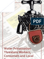 Water Privatization Threatens Workers, Consumers and Local Economies