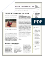 Orwas Newsletter June,July 2013
