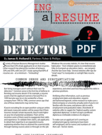 Become a Resume Lie Detector