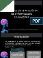 Trastornos de la fonación en las enfermedades neurológicas