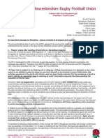 2013-14 - chairmans letter to all clubs