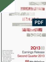 Earnings Release 2Q13