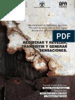 L Registrar y Revelar, Transmitir y Generar Sensaciones -tsis- Mireia Bañuls. Espñ 2011
