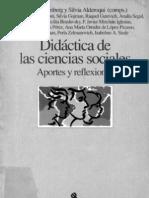 Didáctica de las Cs. Sociales. Aportes y reflexiones. Aisenberg yAlderoqui