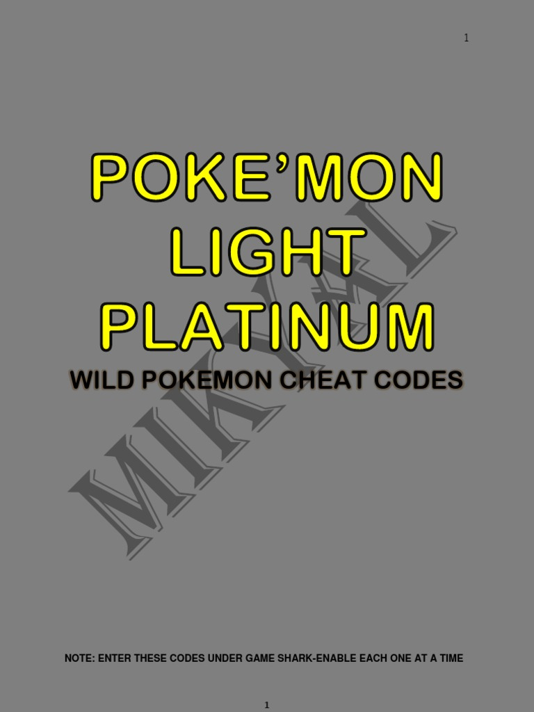 Poke'mon Light Platinum-wild Poke'mon Cheats.pdf
