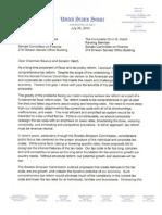 Crapo Tax Reform Letter
