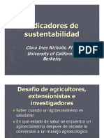 12 Nicholls; Indicadores de Sustentabilidad.