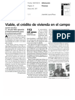 26-07-13 VIABLE, EL CRÉDITO DE VIVIENDA EN EL CAMPO