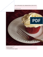 Traigo Receta de Cupcakes de Zanahoria Con Foto