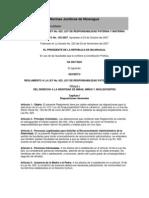 Reglamento de La Ley 623(Asamblea Nacional)