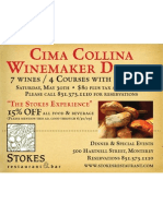 Stokes - Cima Collina Winemaker Dinner