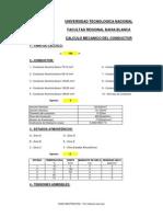 Hoja Excel Calculo Mecanico de Conductores Aereos