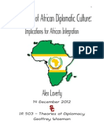 The Norms of African Diplomatic Culture