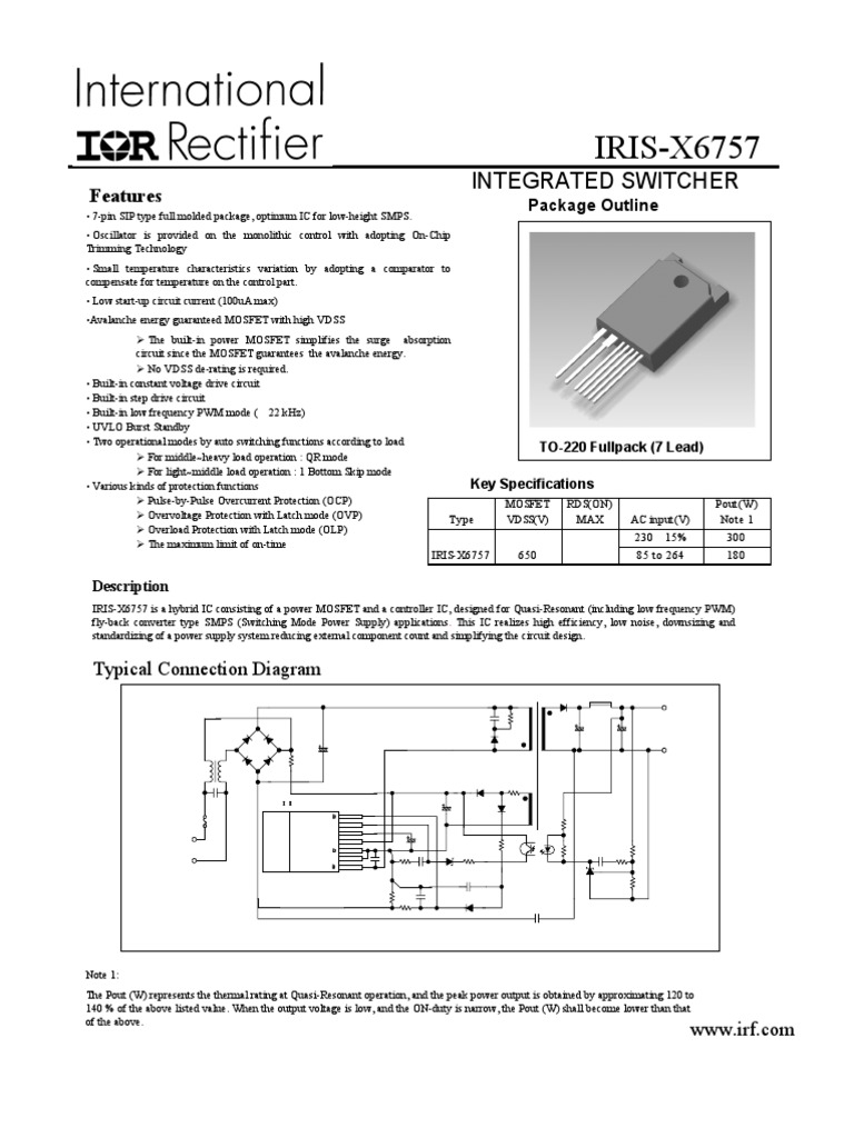 244982 1 Field Effect Transistor Mosfet Fet Overload Current Trip