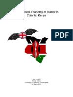 The Political Economy of Rumor in Kenya