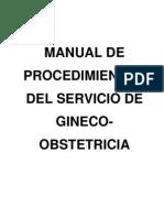 Manual de Procedimientos Del Servicio de Gineco