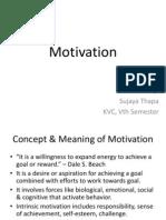 Unit 10 - Motivation - Hrm
