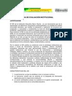 Sistema e Evaluacion Institucional
