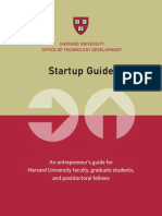 Harvard University START-UP GUIDE