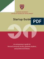 Harvard University START-UP GUIDE