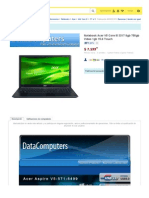 Notebook Acer V5 Core I5 3317 8gb 750gb Video 1gb 15.6 Touch - $ 7