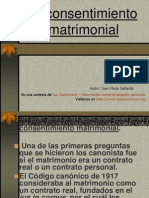DC II 46-1. El Consentimiento Matrimonial I