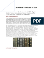 A Guide to Modern Versions of the Bible