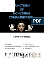 Functions of Nonverbal Communication PPT