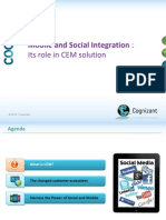 Mobile and Social Integration's Role in CEM Solution