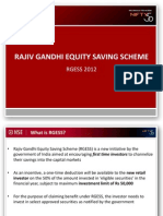 Rajiv Gandhi Equity Savings Scheme (80-CCG)