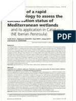Proposal of a Rapid Methodology to Assess the Conservation Status of Mediterranean Wetlands and Its Application in Catalunya (NE Iberian Peninsula) (Archives des Sciences 57, 2004)
