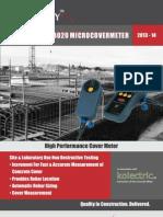 KOLECTRIC MC8020MICROCOVERMETERTMFor Rebar Location, Sizing & Cover Measurement