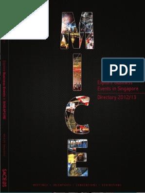MICE Directory 2012 v1 | Tourism | Singapore