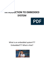 101494377 Introduction to Embedded System