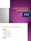 A Safe and healthy environment