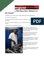 TheUndergroundsite.com - Calvinist Holy Hip Hop Artists