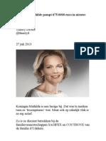 Koningin Mathilde pompt 675.000 euro in nieuwe firma