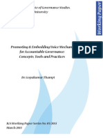 Promoting & Embedding Voice Mechanisms