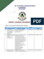 Short Course Calendar 2013