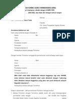 Format Contoh Surat Permohonan Cerai Talak (Suami Yang Mengajukan Permohonan Cerai)