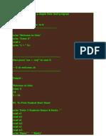 Unixshell Program