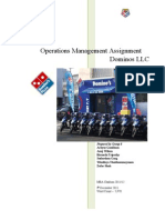 119848020 Operation Management in Domino Pizza123