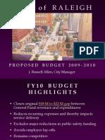 2010-Proposed Budget Presentation