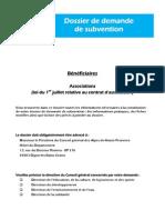 Dossier Type Demande Subvention Associations