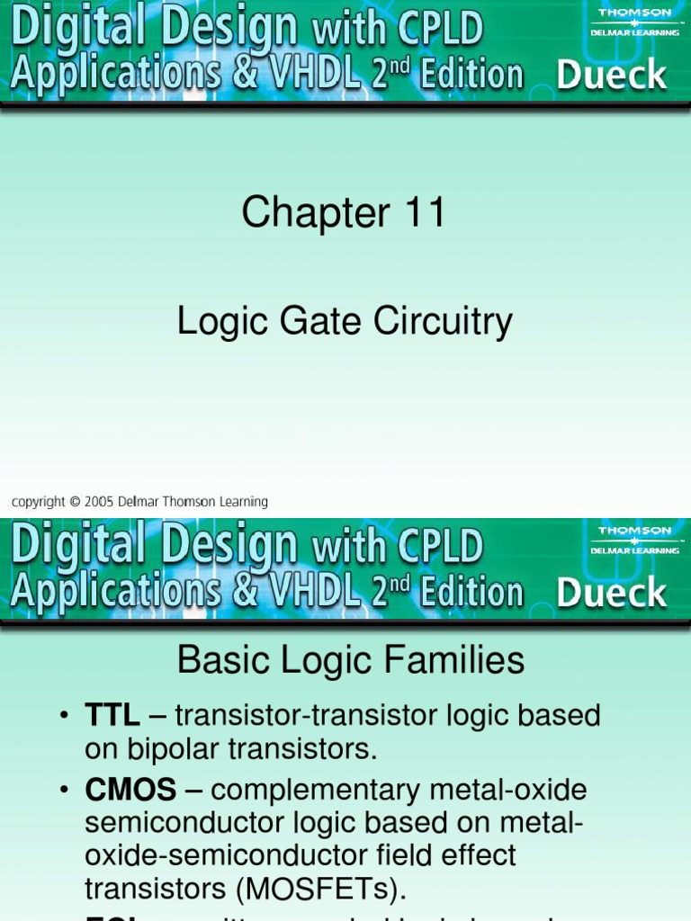 Chapter 11ppt Cmos Field Effect Transistor Lecture 24 Logicgatesimplelogiccircuit