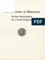 The University of Minnesota Invites Participation in a Great