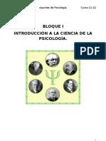 Bloque i Introduccion a La Ciencia Psicolgica
